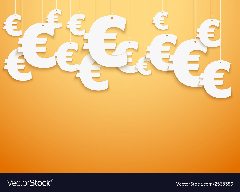 Hung symbols euro vector | Price: 1 Credit (USD $1)