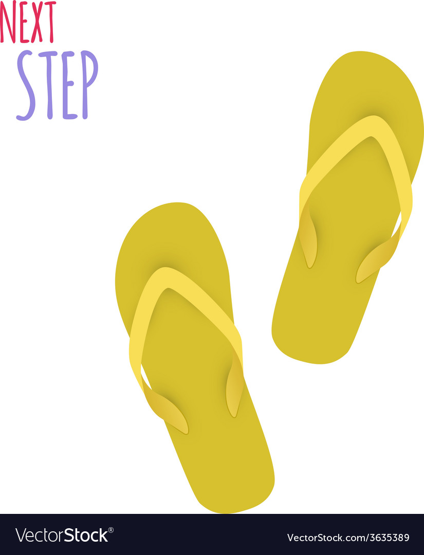 Next step slippers banner vector | Price: 1 Credit (USD $1)