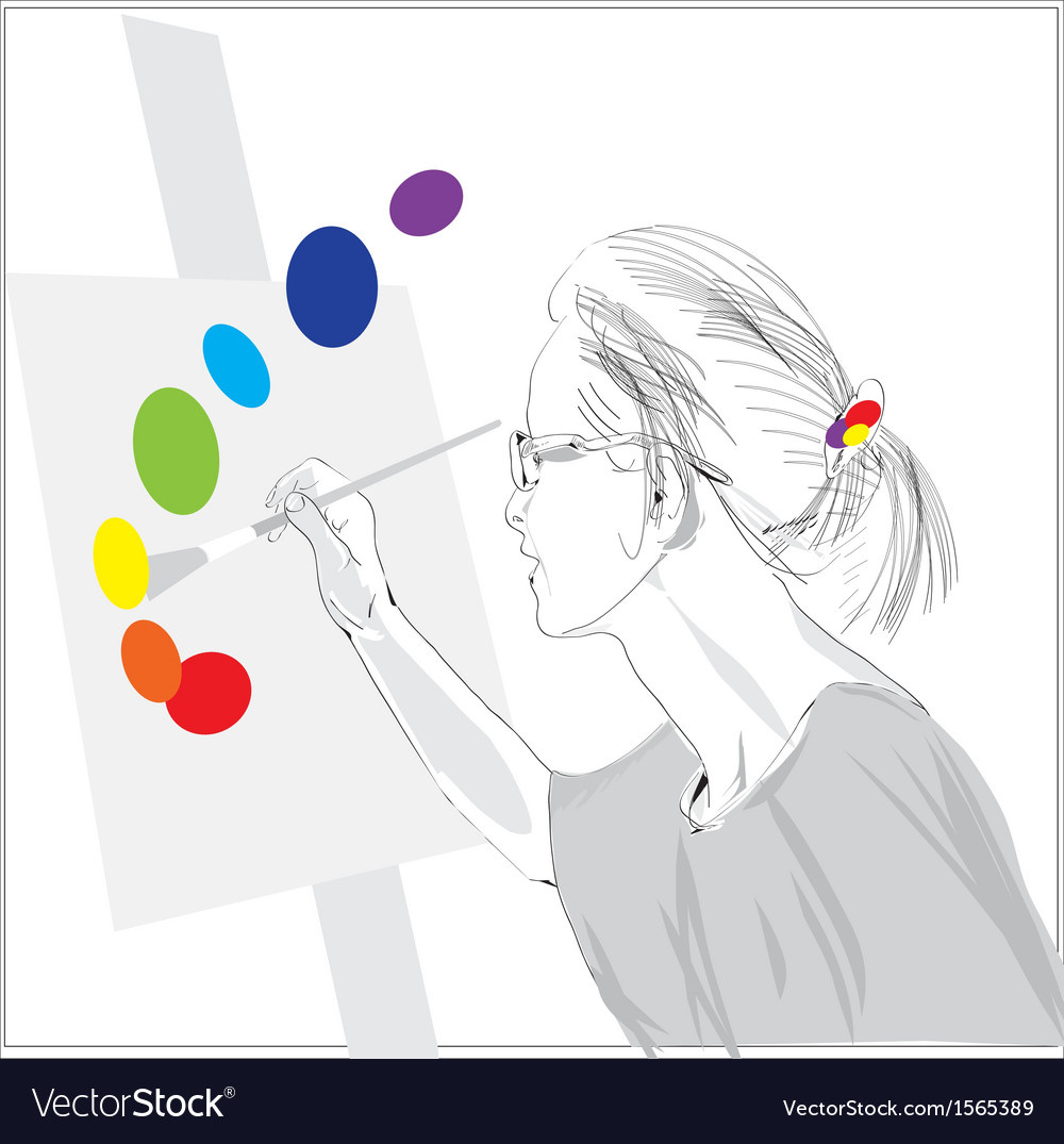 Painter vector | Price: 1 Credit (USD $1)
