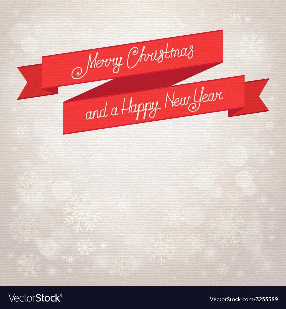 Postcard merry christmas beige background with vector | Price: 1 Credit (USD $1)