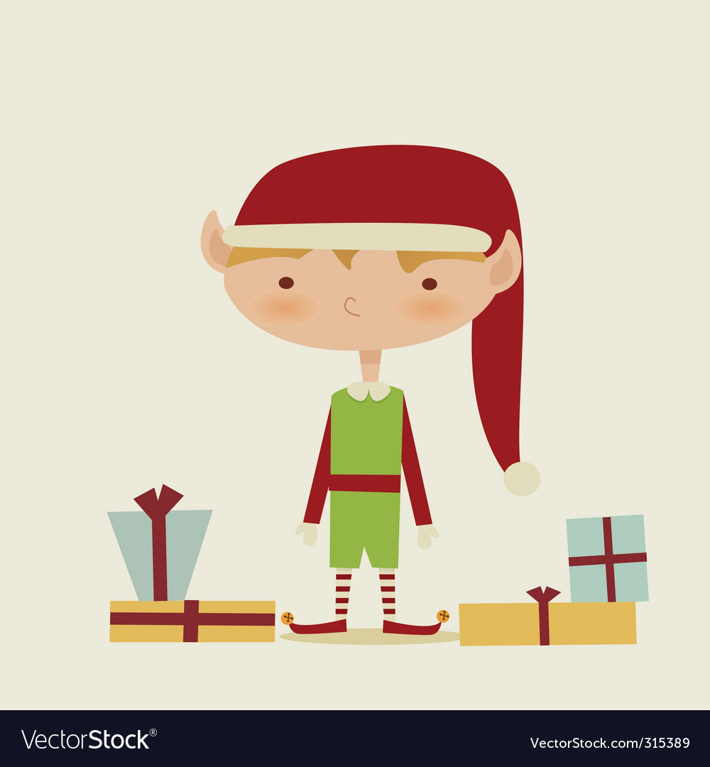 Retro elf vector | Price: 1 Credit (USD $1)