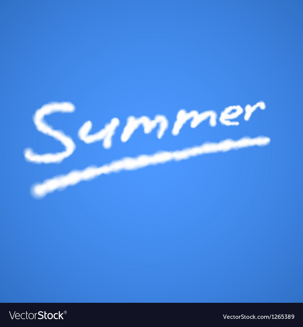 Summer cloudy text vector | Price: 1 Credit (USD $1)