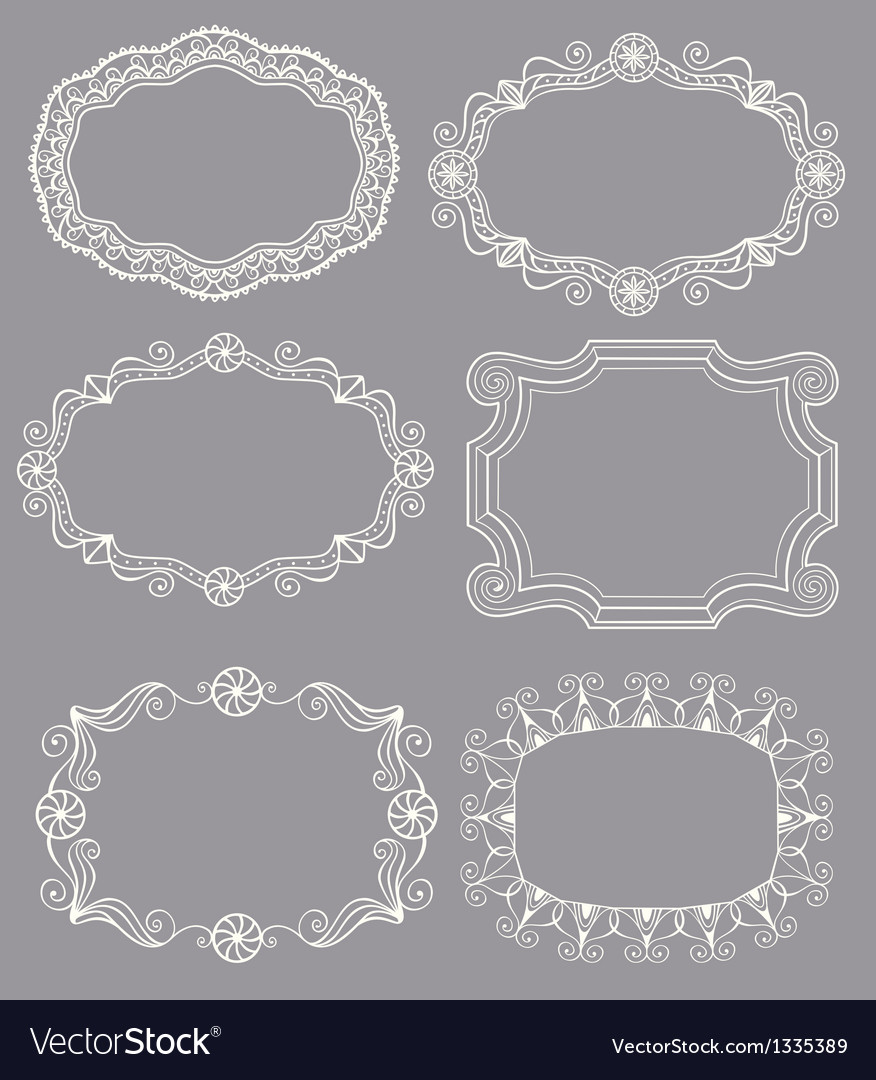 Vintage lace frames vector | Price: 1 Credit (USD $1)