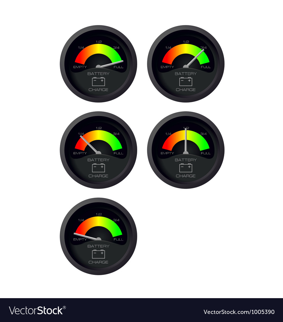 Analog battery indicator vector | Price: 1 Credit (USD $1)