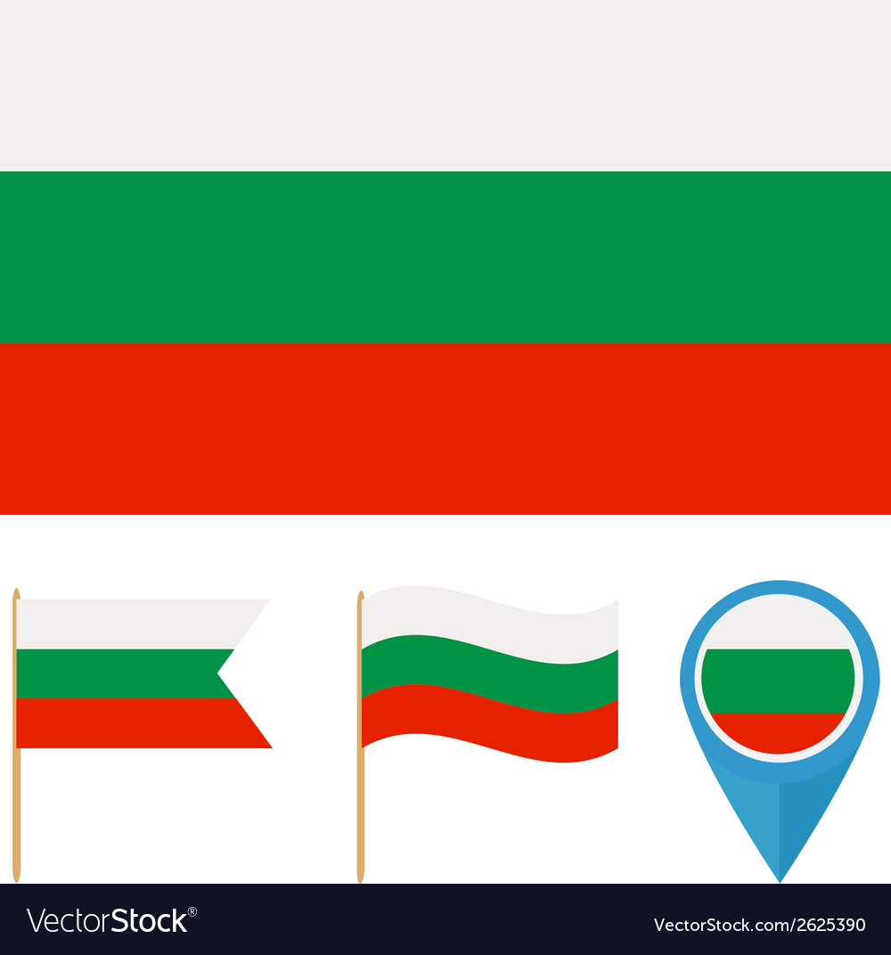 Bulgaria country flag vector | Price: 1 Credit (USD $1)