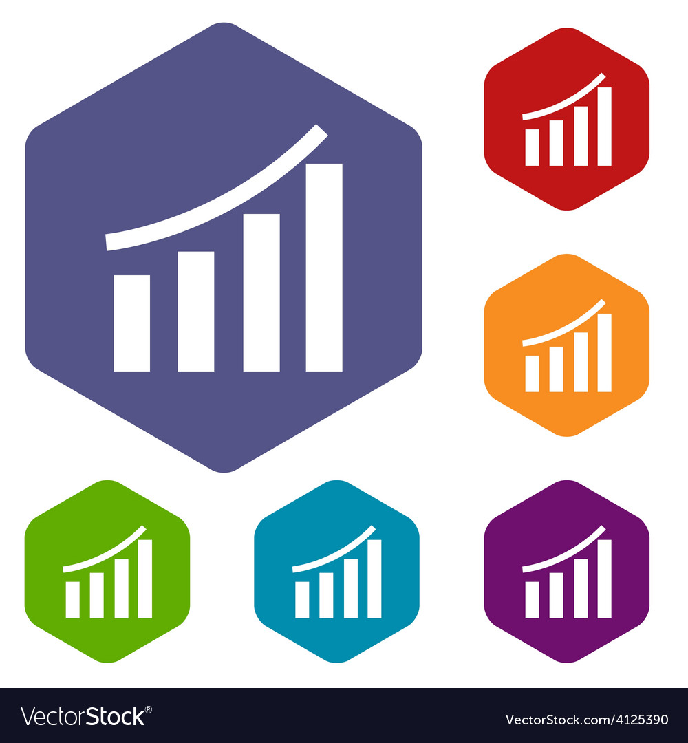 Chart rhombus icons vector | Price: 1 Credit (USD $1)