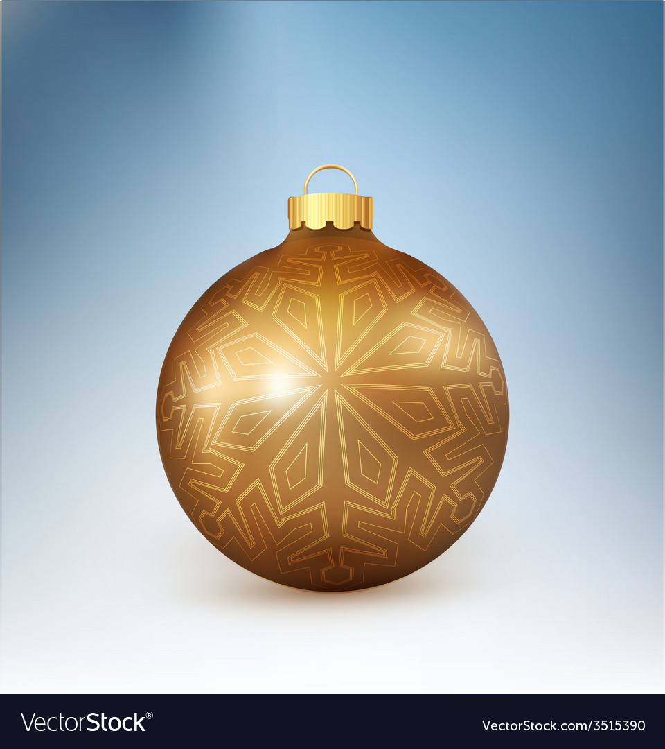 Christmas ball with snowflake vector | Price: 1 Credit (USD $1)