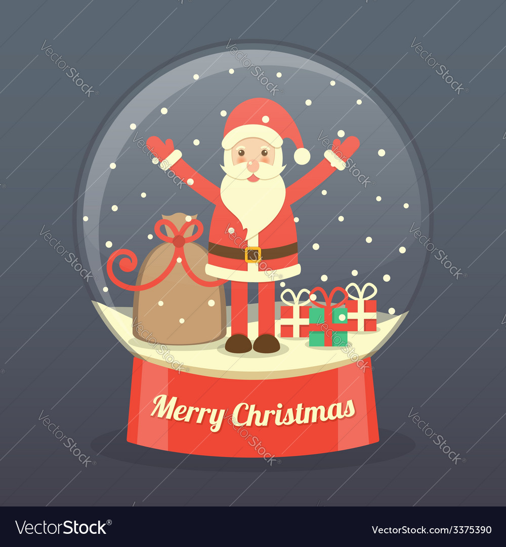 Christmas santa claus background vector | Price: 1 Credit (USD $1)