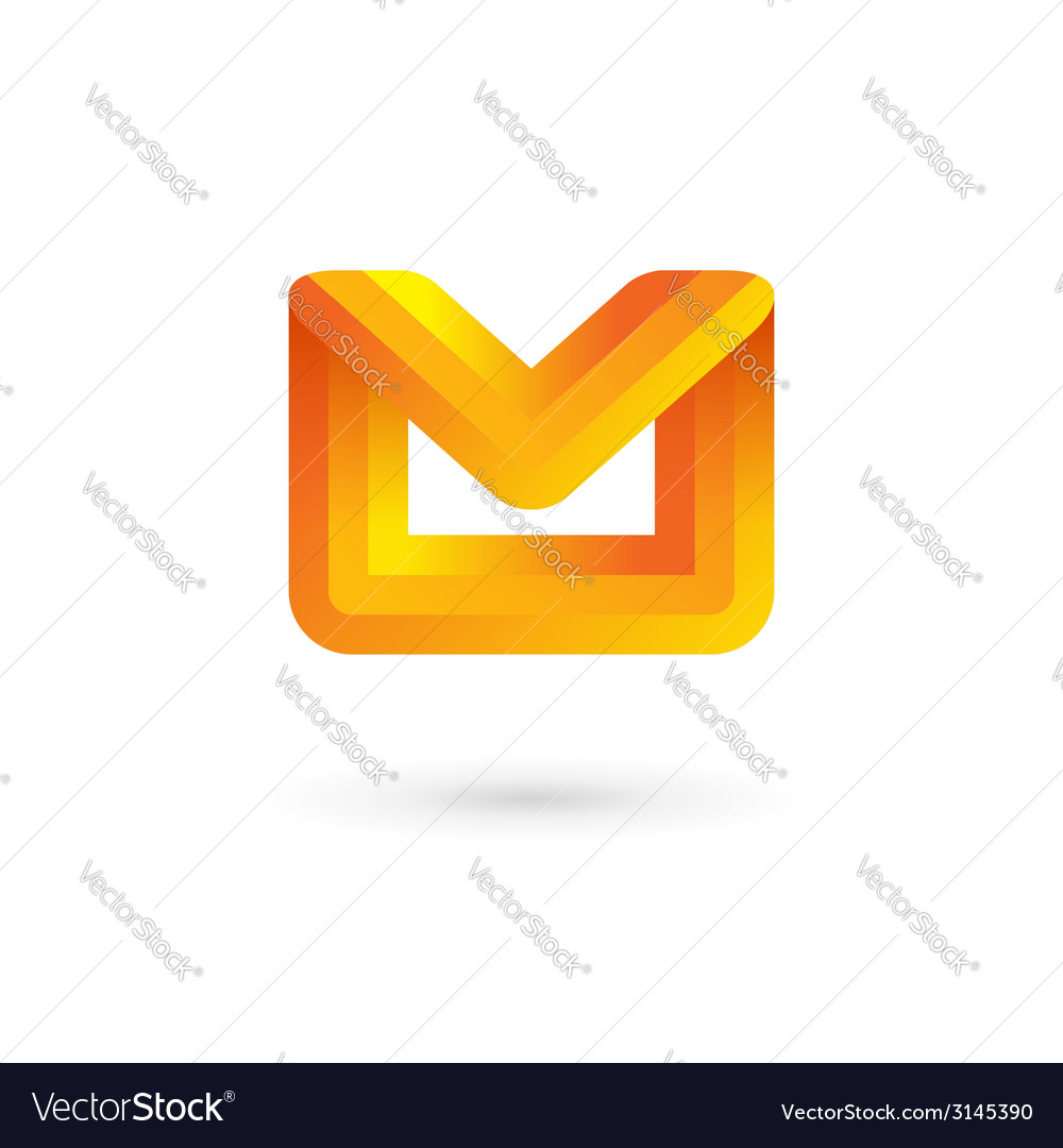 E-mail envelope letter m logo icon design template vector | Price: 1 Credit (USD $1)