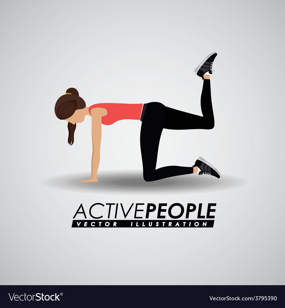 Fitness design vector | Price: 1 Credit (USD $1)
