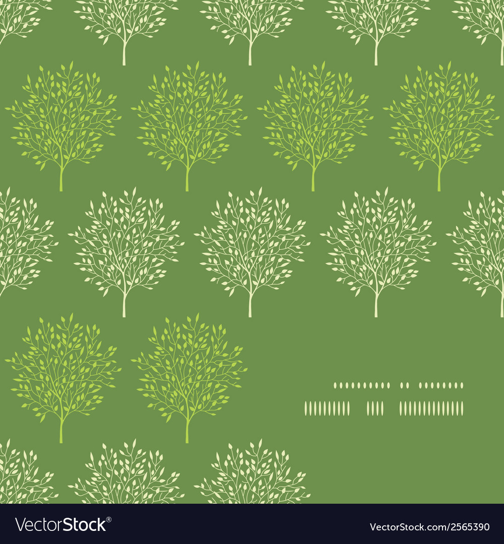Green trees stripes corner frame pattern vector | Price: 1 Credit (USD $1)