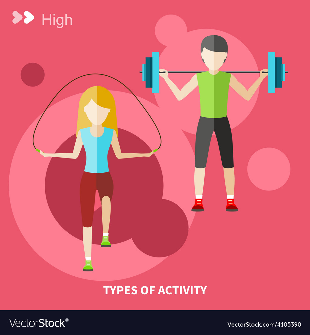 Healthy lifestyles daily routine vector | Price: 1 Credit (USD $1)