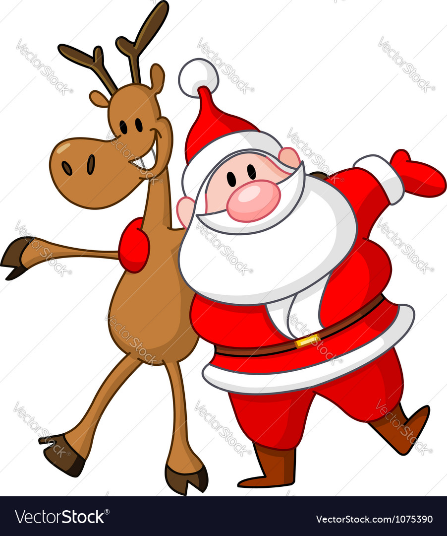 Reindeer and santa vector | Price: 1 Credit (USD $1)