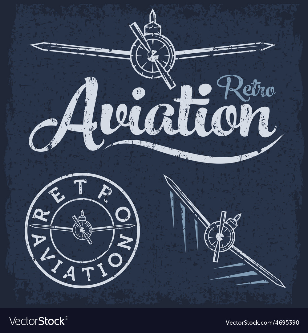 Retro grunge aviation label vector | Price: 1 Credit (USD $1)