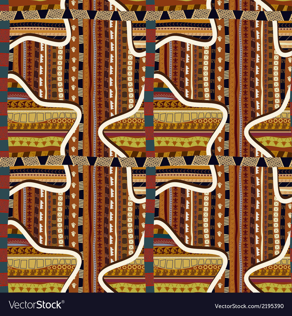 Seamless with geometric stars in the african style vector | Price: 1 Credit (USD $1)