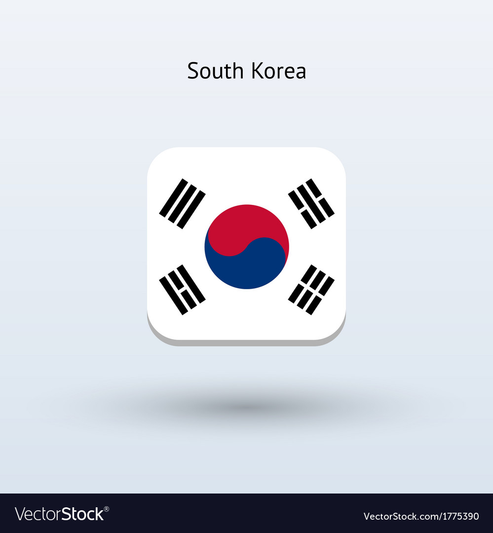 South korea flag icon vector | Price: 1 Credit (USD $1)
