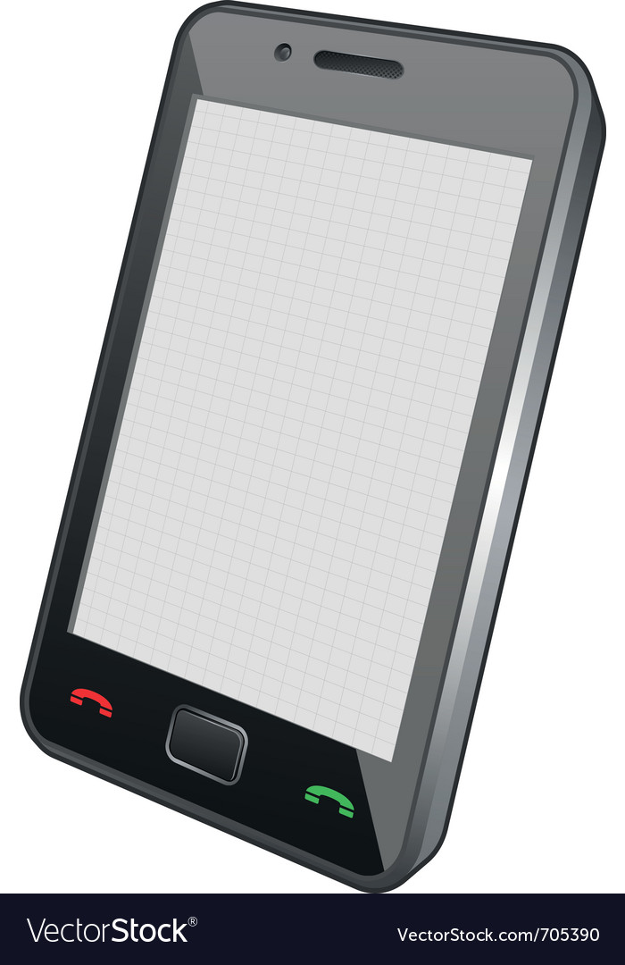 Touch screen phone vector | Price: 1 Credit (USD $1)