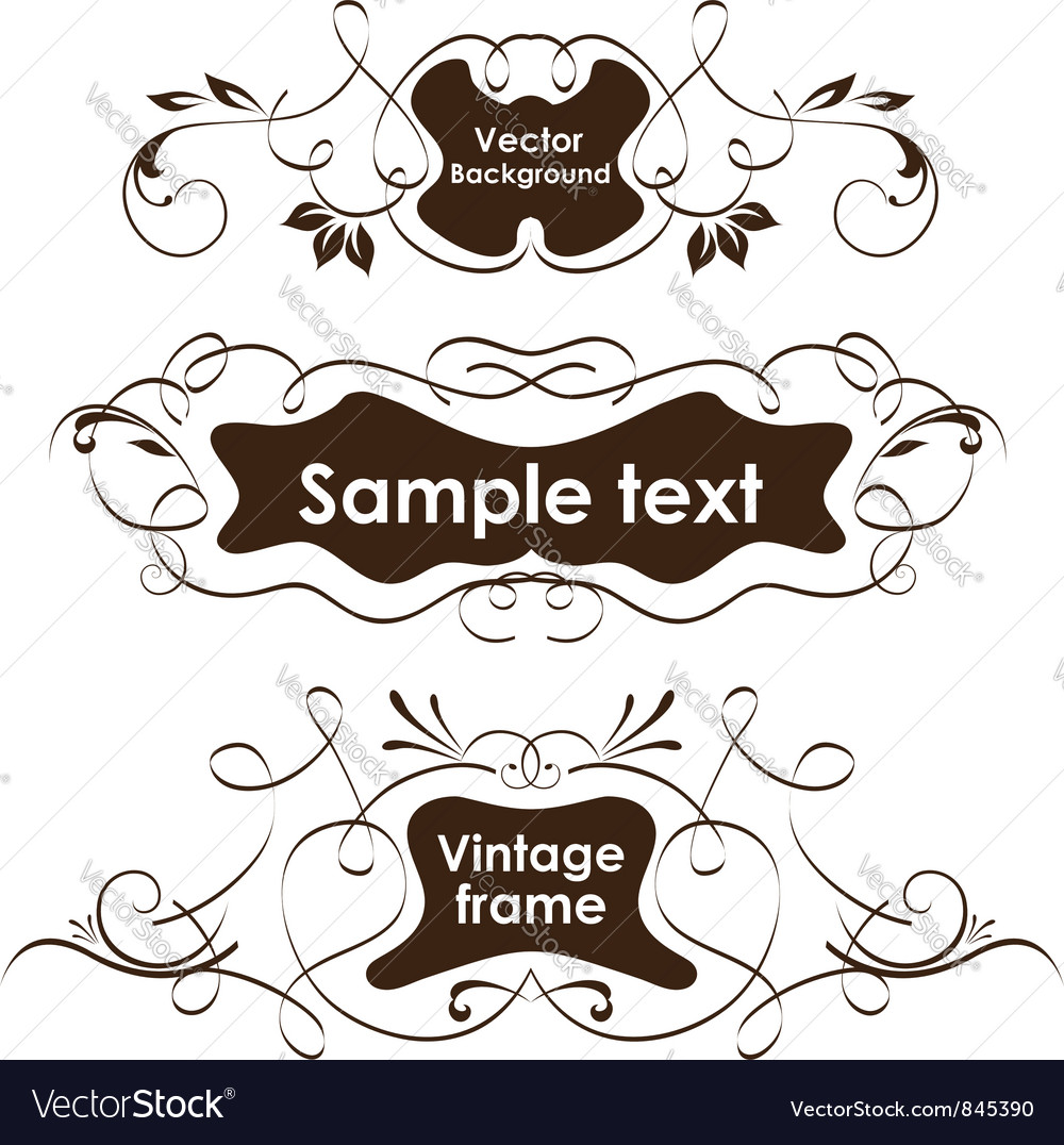 Vintage frames vignette borders vector | Price: 1 Credit (USD $1)