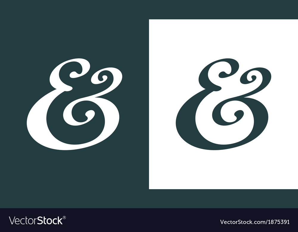 Ampersand vector | Price: 1 Credit (USD $1)