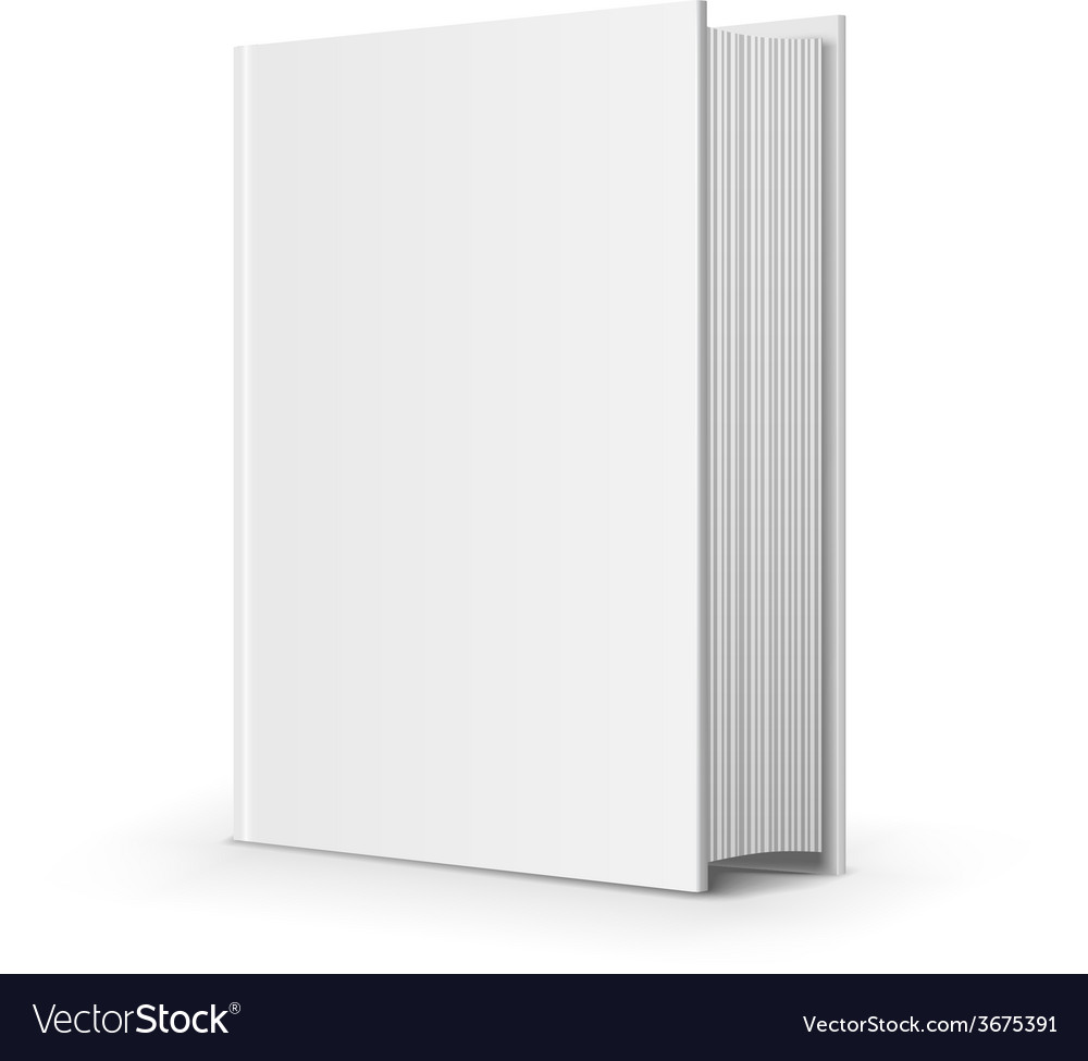 Bold blank book vector | Price: 1 Credit (USD $1)