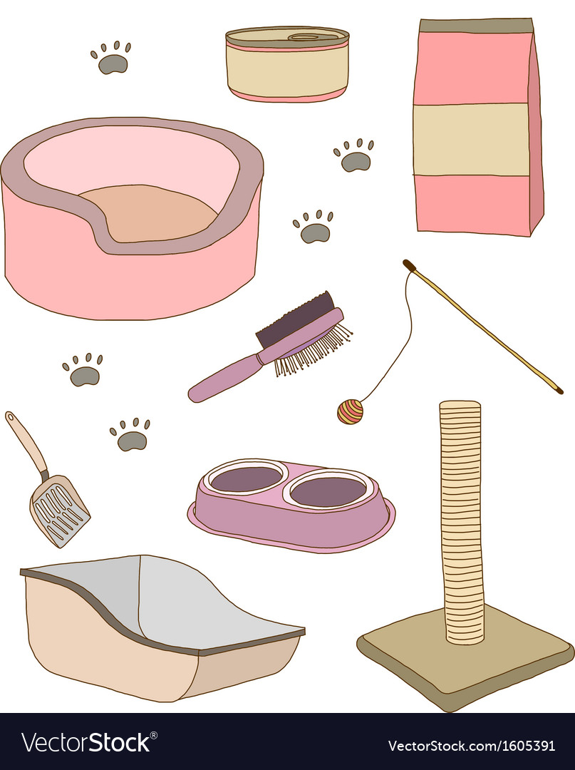 Cat stuff vector | Price: 1 Credit (USD $1)