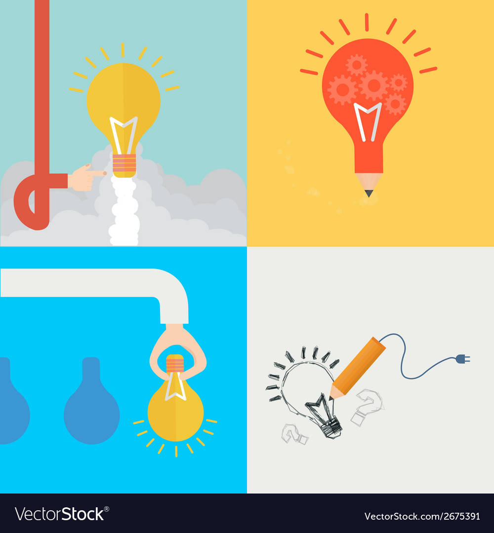 Element of idea concept icon in flat design vector | Price: 1 Credit (USD $1)
