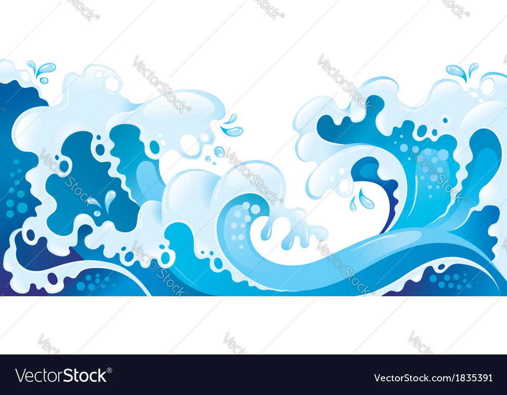 Giant ocean waves background vector | Price: 1 Credit (USD $1)