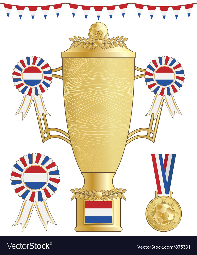 Netherlands football trophy vector | Price: 1 Credit (USD $1)