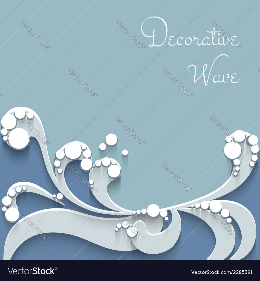 Paper wave background vector | Price: 1 Credit (USD $1)