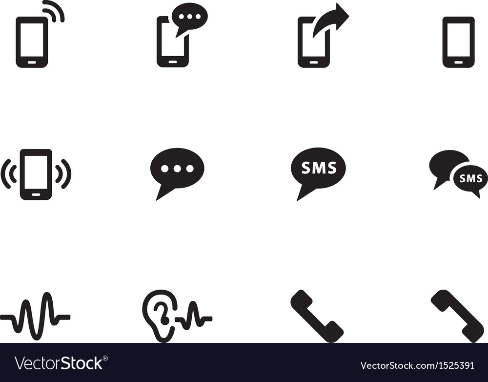 Phone icons on white background vector | Price: 1 Credit (USD $1)