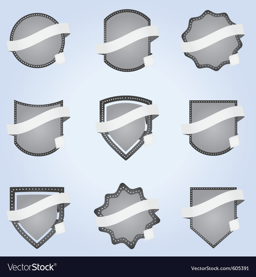 Ribbon banner labels vector | Price: 3 Credit (USD $3)