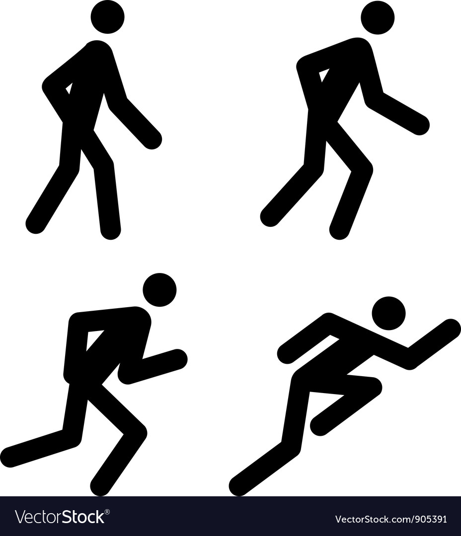Running pictograms vector | Price: 1 Credit (USD $1)