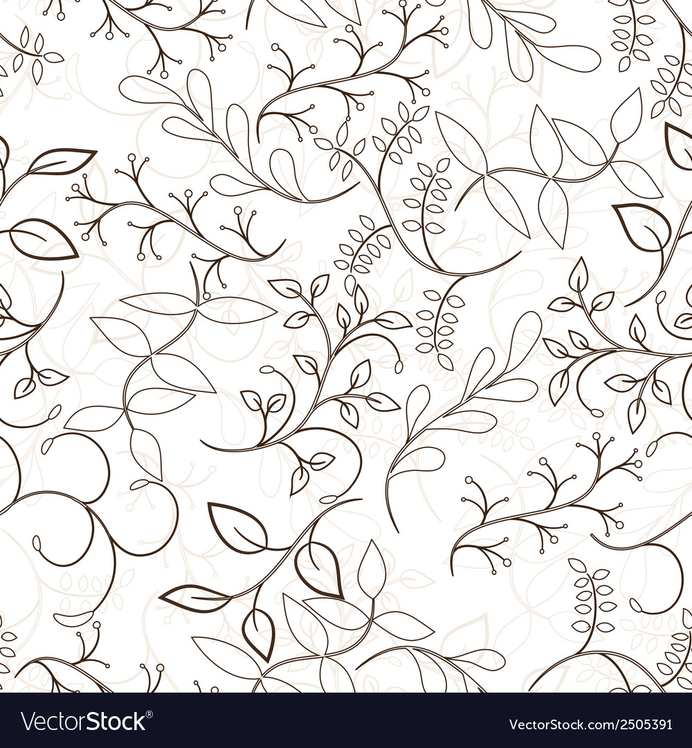 Tree seamless pattern vector | Price: 1 Credit (USD $1)