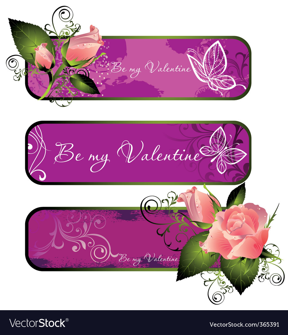 Valentines banners vector | Price: 1 Credit (USD $1)