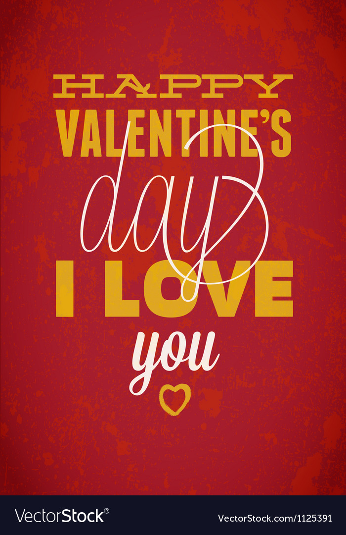 Vintage saint valentines typography  can be used vector | Price: 1 Credit (USD $1)