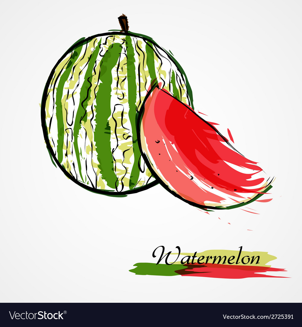 Watermelon fruit slice vector | Price: 1 Credit (USD $1)