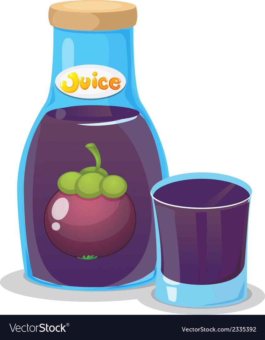 A bottle of eggplant juice vector | Price: 1 Credit (USD $1)