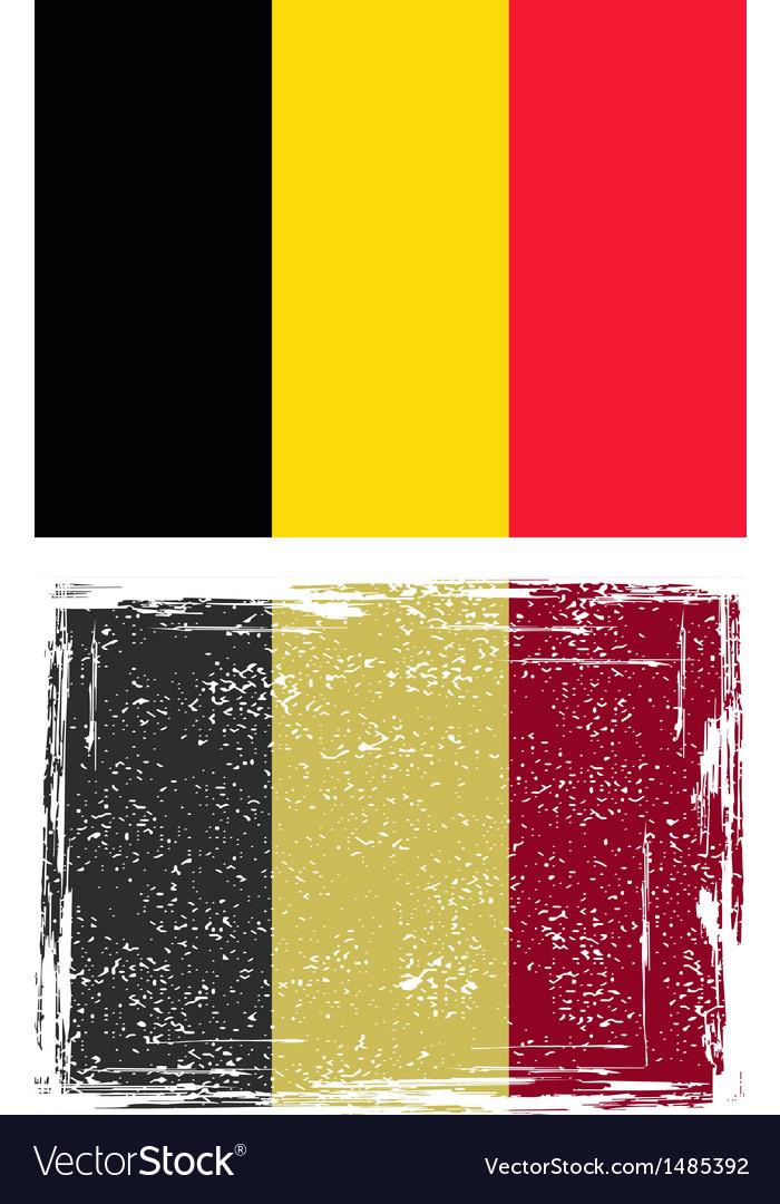 The belgian grunge flag vector | Price: 1 Credit (USD $1)