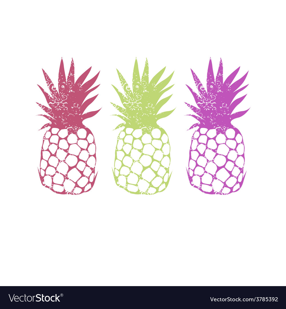Design with pineapple vector | Price: 1 Credit (USD $1)