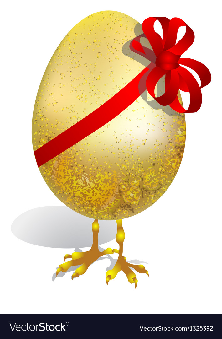 Egg with ribbon vector | Price: 1 Credit (USD $1)