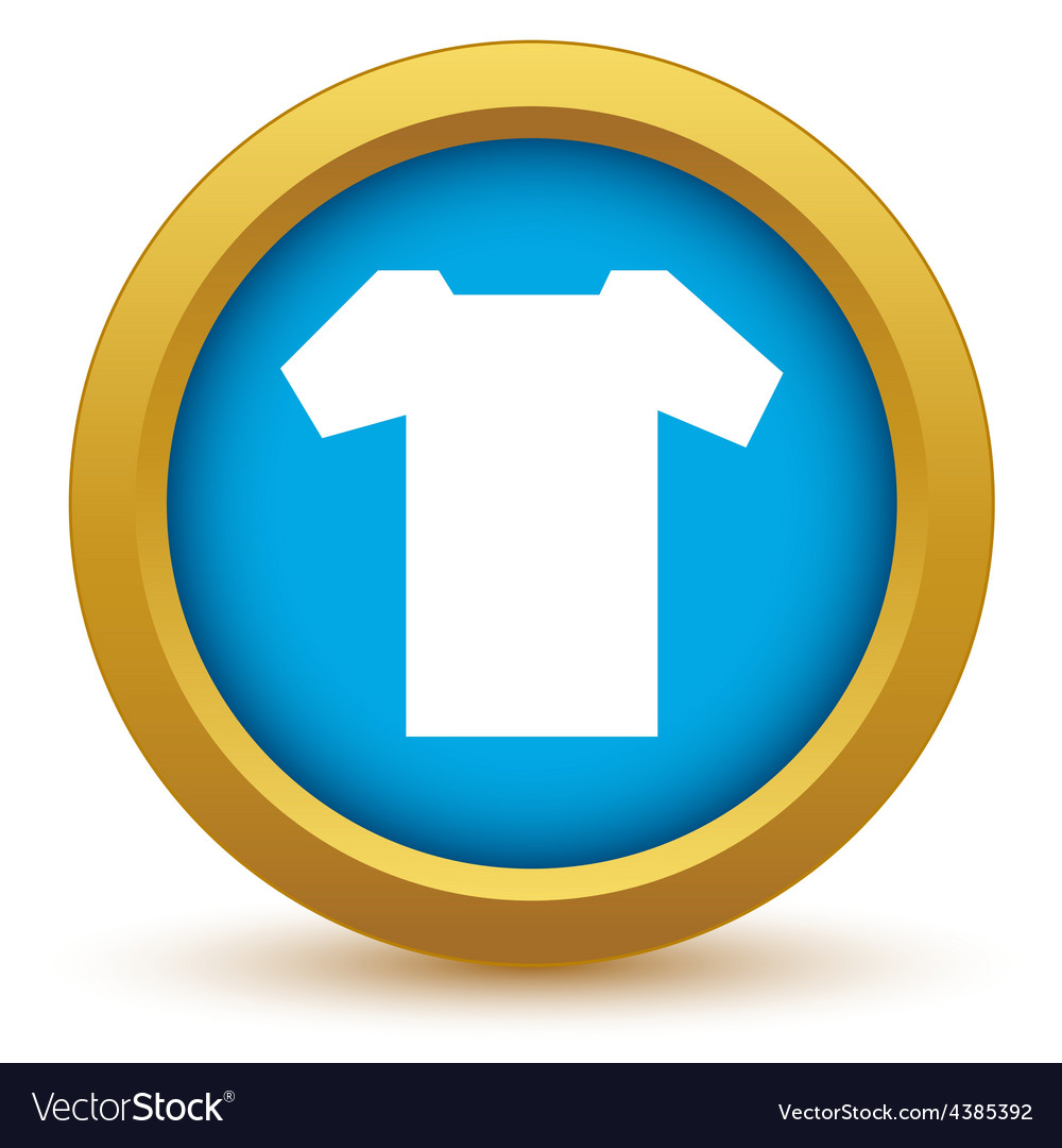 Gold tee shirt icon vector | Price: 1 Credit (USD $1)