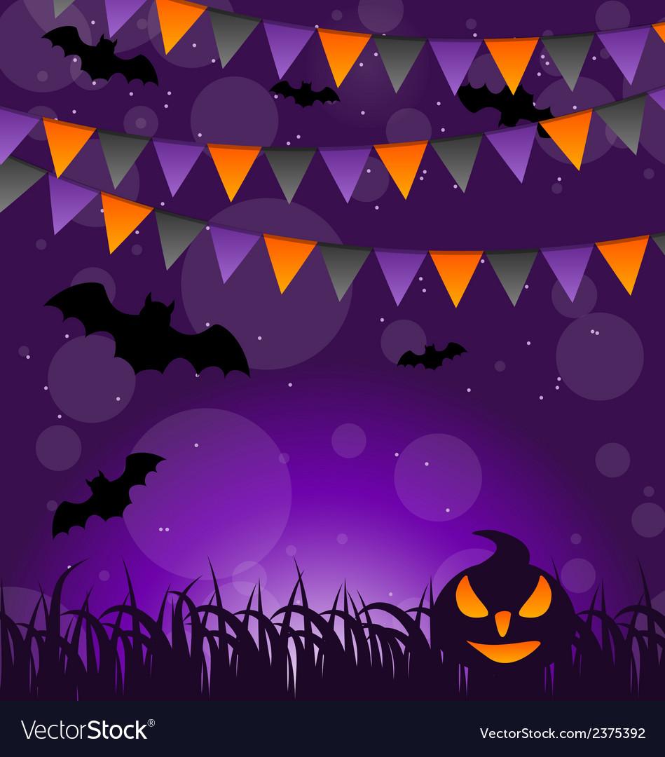 Halloween background with pumpkins and hanging vector | Price: 1 Credit (USD $1)