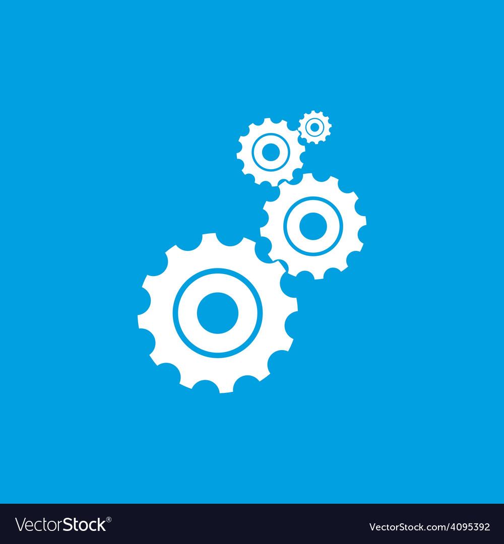 Mechanism white icon vector | Price: 1 Credit (USD $1)