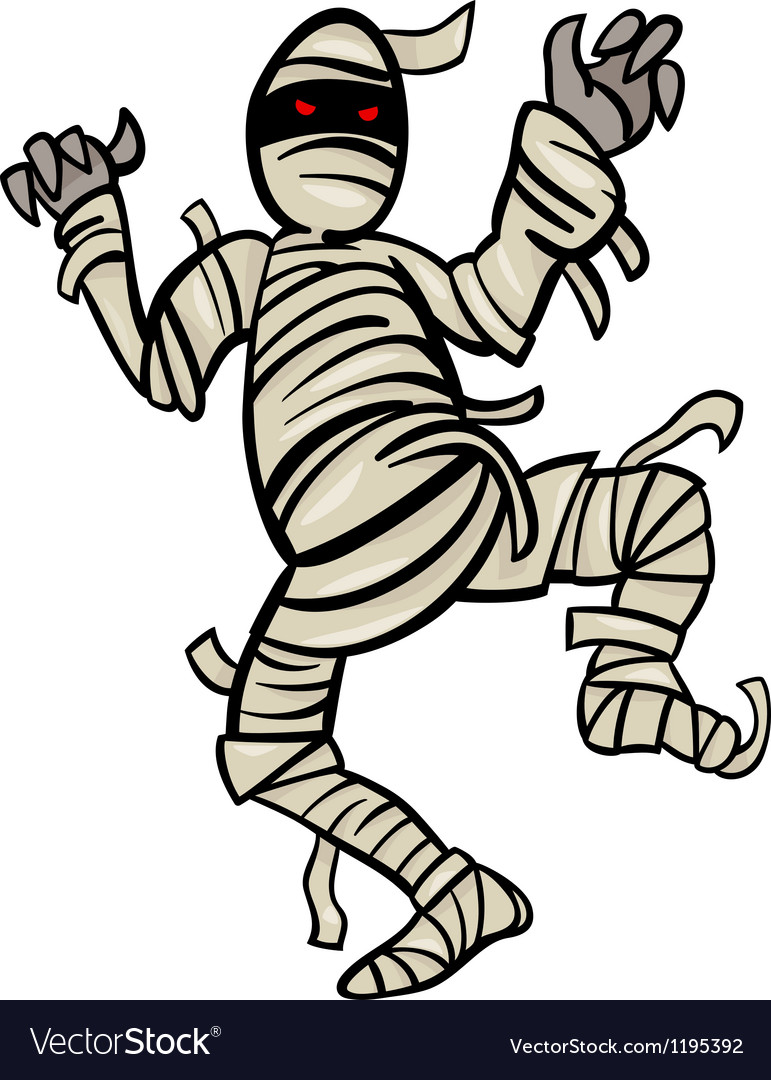 Mummy monster cartoon vector | Price: 1 Credit (USD $1)