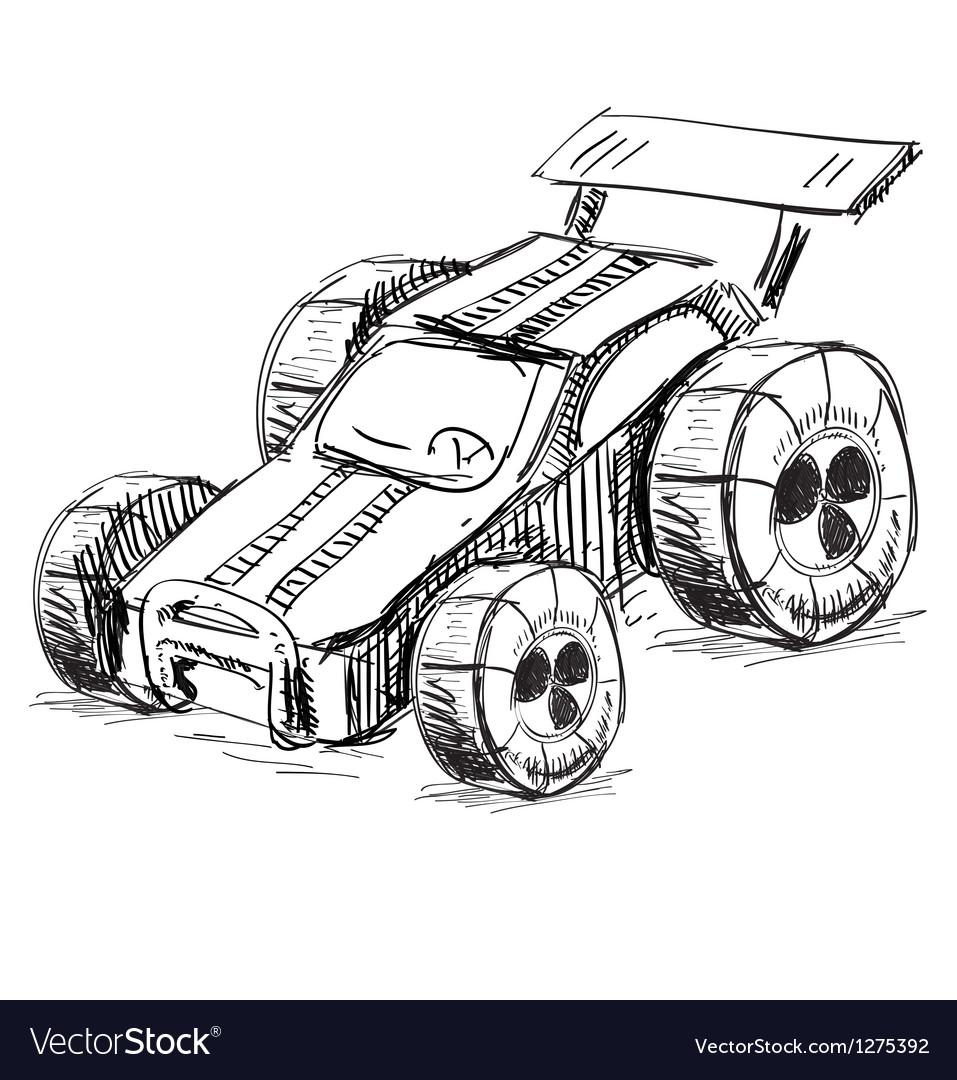 Race car vector | Price: 1 Credit (USD $1)