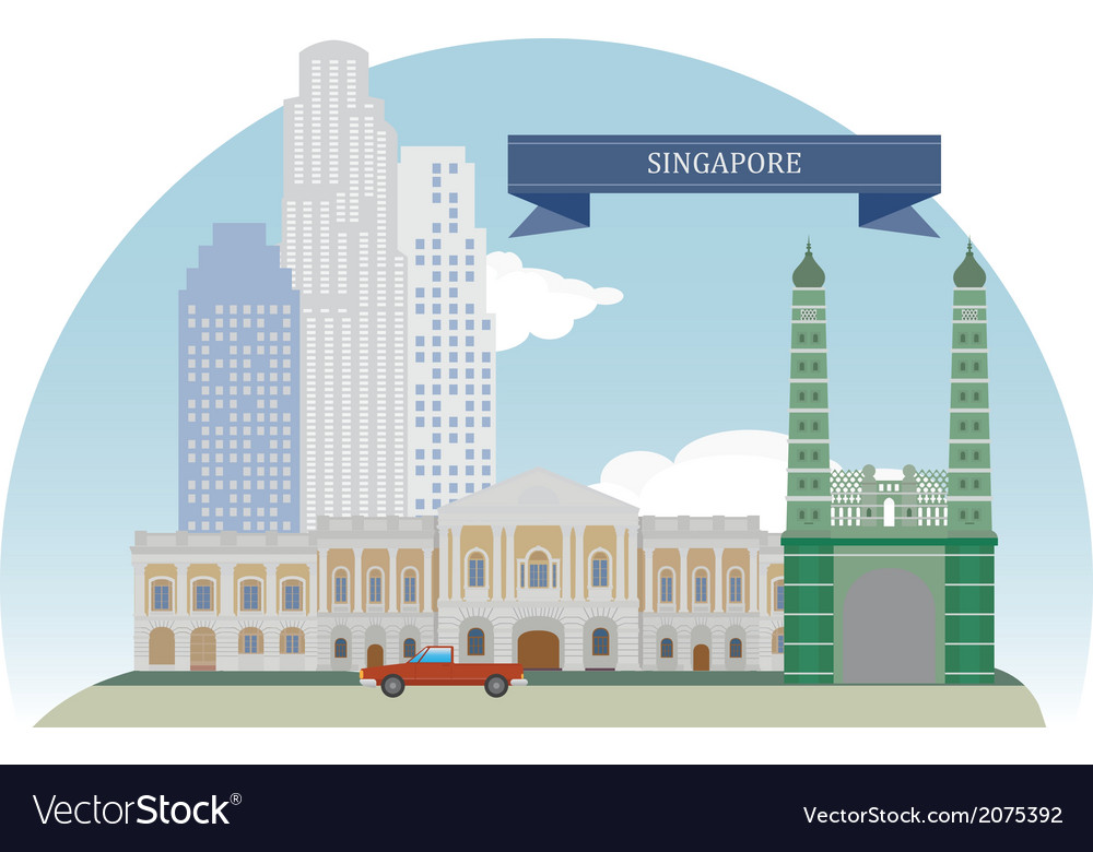 Singapore vector | Price: 1 Credit (USD $1)