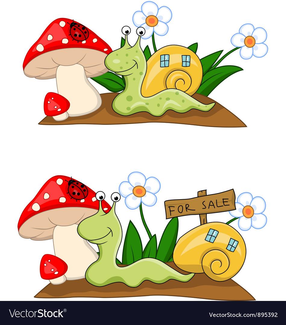 Snail cartoon vector | Price: 3 Credit (USD $3)