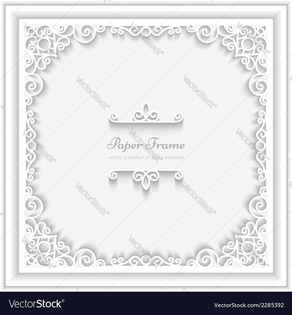 Square paper frame vector | Price: 1 Credit (USD $1)