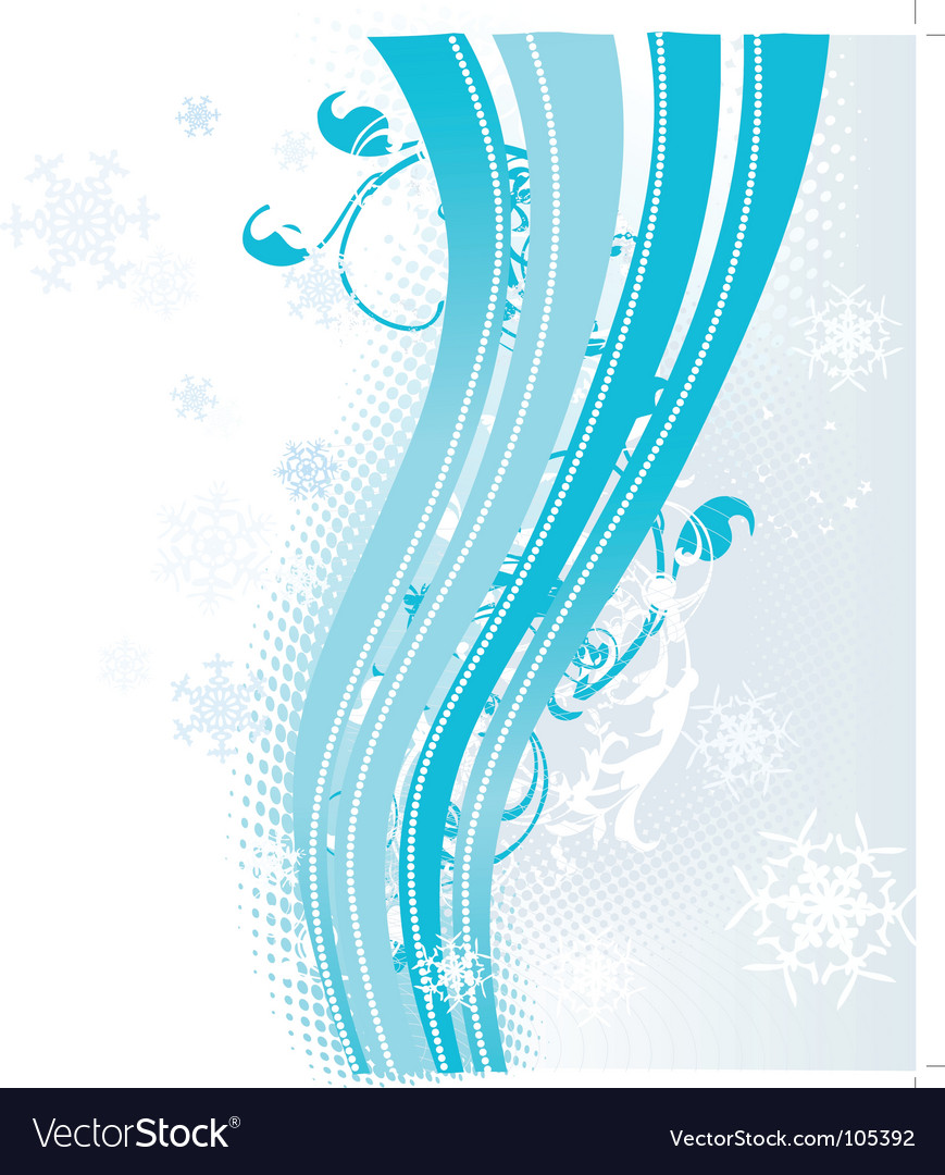 Surreal snowflakes design vector | Price: 1 Credit (USD $1)