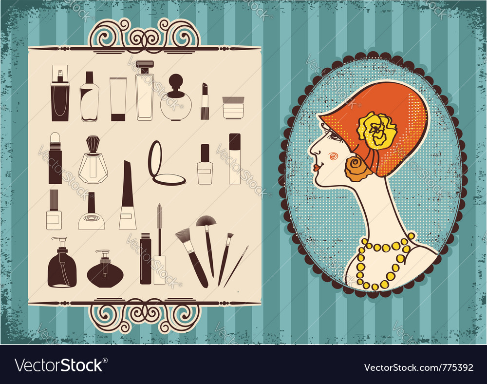 Vintage woman fashion vector | Price: 1 Credit (USD $1)
